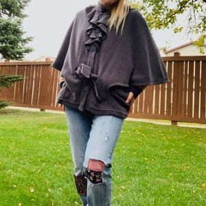 Gap New Women Rare Gray Jacket Coat Size L